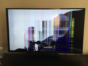 Broken replacement television.
